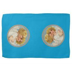 Twin Angels Kitchen Towel http://www.zazzle.com/twin_angels_kitchen_towel-197906825844964280?rf=238271513374472230  #christmas   #christmasideas   #towels