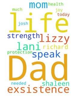 We speak life into exsistence I Lani Lizzy Mom Dad - We speak life into exsistence I Lani Lizzy Mom Dad Richard Shaleen Josh have protection as much as needed strength joy health today in Jesus name amen Posted at: https://prayerrequest.com/t/sSk #pray #prayer #request #prayerrequest
