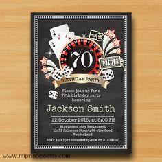 Poker Playing Card birthday invitation Casino Slot by miprincess