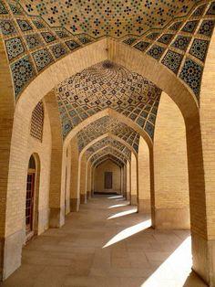 central court of the Nasr Al Molk mosque / in Iran