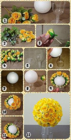 Magic - ideas of creativity and decor, needlework You are in the right place about decoration for ho Diy Wedding Flowers, Wedding Crafts, Diy Crafts Hacks, Diy Home Crafts, Paper Flowers Diy, Flower Crafts, Flower Diy, Flower Ideas, Flower Decorations