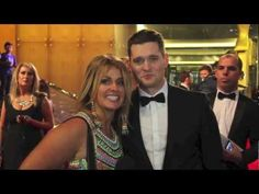 MICHAEL BUBLE was just so SUPER CHARMING on the red carpet at the 2013 TV WEEK LOGIE AWARDS...I even got him to sing!!! :D Celebrity Videos, Celebration Gif, Michael Buble, Got Him, Red Carpet, Singing, Awards, Tv, Celebrities