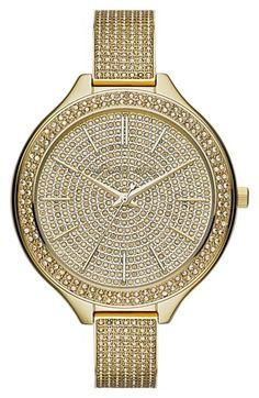 Michael Kors 'Slim Runway' Pavé Crystal Bangle Watch, 43mm  http://rstyle.me/n/dpkpnpdpe