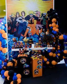 Naruto Birthday, Sons Birthday, Birthday Dinners, Birthday Parties, Birthday Ideas, Bolo Do Naruto, Naruto Party Ideas, Birthday Party Decorations, Party Themes
