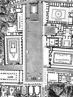 Plan of the Forum, Pompeii, Italy.