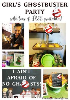 Girl Ghostbuster Party - TONS of free printables! Ghostbusters Kids, Ghostbusters Birthday Party, 4th Birthday Parties, Birthday Party Decorations, Birthday Ideas, Bday Girl, Girl Birthday, Party Printables, Free Printables