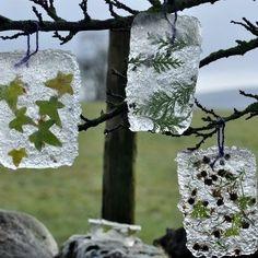 Ice Art neat idea ~P~ Land Art, Nature Crafts, Fun Crafts, Deco Nature, Ice Art, Mandala Art, Snow Art, Winter Art, Winter Snow