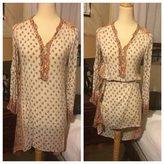 Free People Boho dress Gorgeous Free People Boho dress!! Purchased from ebay however it fits me too tight! Love this dress! If someone has a size M I can purchase please tag me! Free People Dresses High Low