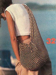 Ravelry: # 32 Mesh crochet bag pattern by Jean Betancourt Crochet Handbags, Crochet Bags, Knit Crochet, Crochet Pattern, Ravelry, How To Make Handbags, Purses And Handbags, Mode Crochet, Crochet Market Bag