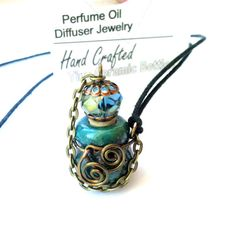 Long Aromatherapy Necklace Perfume Bottle Essential by mmartiniuk