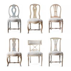 Set of Six 18th & 19th Century Swedish Chairs