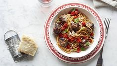Spaghetti and Meatballs with Grape Tomatoes