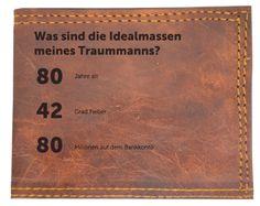 Sei nicht schüchtern, steh zu deinen Traumindex deines Traummanns. Leder Geldbörse 80 -42-80 bei Leder Gravur. Persönliche Geschenke kaufen bei Leder- Gravur.de