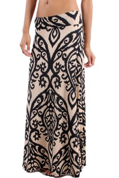 Zoryana Damask Maxi Skirt -- We love maxi skirts, and we love the pretty damask print on this one.