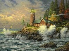 $11.6 - Sale Diamond Painting Diy Scenery Oil Painting Lighthouse Cross Stitch 5D #ebay #Home & Garden