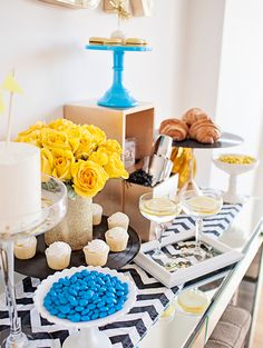 Add pops of your favorite colors to your next party and tie the whole thing together with a patterned  table runner!