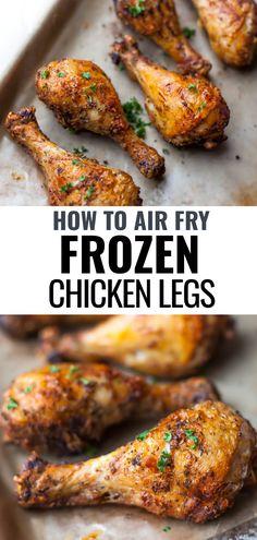 Air Fryer Chicken Leg Recipe, Chicken Thigh Recipes Oven, Chicken Drumstick Recipes, Baked Chicken Recipes, Frozen Chicken Recipes, Oven Chicken, Skillet Chicken, Recipe Chicken, Healthy Chicken