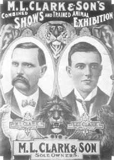 Clark & Sons Circus poster