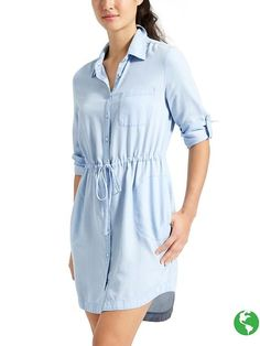 Would love a chambray shirtdress though would love one with no collar