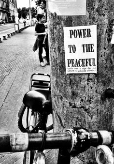 Amsterdam Love | Power to the Peaceful (everything you say can be used in your favour) #amsterdam #words #power #peace #peaceful #wisdom