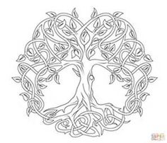 Celtic Tree of Life coloring page | SuperColoring.com                                                                                                                                                                                 More