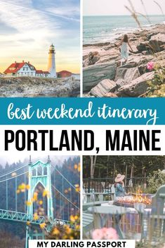 Beautiful Places To Visit, Cool Places To Visit, Places To Travel, Travel Destinations, Weekend In Portland, Portland Maine, Travel Portland, Usa Travel Guide, Travel Usa