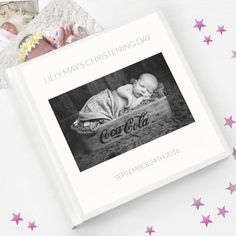 LITTLE ZOO Personalised Christening//Baptism Guest Book Photo Album Boy or Girl