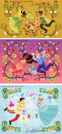 Princess and the Frog, Pocahontas, Cinderella