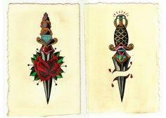 American Traditional Daggers by mubbamubba on deviantART