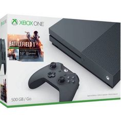 Xbox One S Battlefield 1 Special Edition Bundle, Storm Grey (500GB)