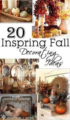 Home Decoration Ideas ~ 20 Inspiring Fall Decorating Ideas from anderson and grant Thanksgiving Decorations, Halloween Decorations, House Decorations, Thanksgiving Tablescapes, Thanksgiving Ideas, Seasonal Decor, Autumn Decorating, Decorating Ideas, Decor Ideas