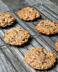 banana nutella oat cookies
