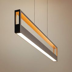 The Echo LED pendant light is designed around a black finish frame with an open design and a white acrylic shade down its length. 44 wide x deep x high. Style # at Lamps Plus. Modern Lighting Design, Interior Lighting, Home Lighting, Accent Lighting, Architectural Lighting Design, Club Lighting, Led Light Design, Modern Design, Island Pendant Lights