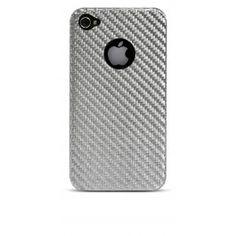 Silver Carbon Cover iPhone 4 / 4S  Silver Case in fibra composita (solid silver core) adatta a proteggere e personalizzare il tuo iPhone.  Semplice da montare, ripara il tuo iPhone da urti e cadute.  È antigraffio, antiurto, leggera e disperde il calore.  Compatibile solo con iPhone 4 e iPhone 4S.