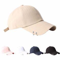 B188 Empty Cotton Silver Ring Piercing Rock Metal Ball Cap Baseball Hat Truckers #Unbranded #BaseballCap