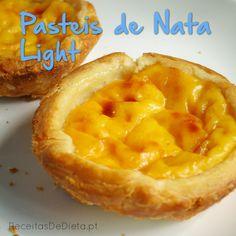Pasteis de Nata Light  #receita #dieta #light #regime #fitness #saudável
