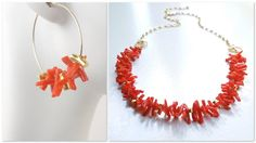 Riviera Red Coral Branch Necklace by Camla
