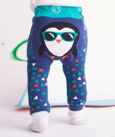 Take a look at this Blue Cool Penguin Leggings - Infant today!