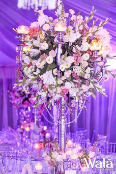 Centro de mesa de candelabro con flor!!