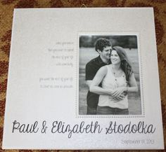 Personalized gift for weddings!