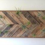 DIY Pallet Chevron Wall Art – Wall Panel