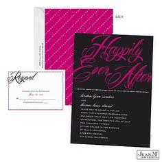 Bright Future Wedding Invitation - Raspberry
