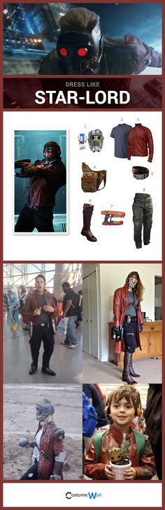 Dress like Star-Lord of the Guardians of the Galaxy. Check out these awesome Star-Lord costumes and cosplay.