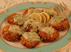 Salmon Croquettes with Creole mustard sauce