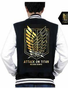 Attack on Titan Sweatshirt Scouting Lengion Logo Zip Up Jacket For Men--