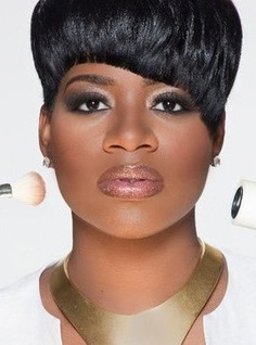 Natural Black Short Blunt Cut Pixie Synthetic Hair With Straight Full Bangs For Round Face Capless Cap Wigs 6 Inches Sexy Eye Makeup, I Love Makeup, Makeup Looks, Fantasia Barrino, Celebrity Wigs, Bangs For Round Face, Glamour, Black Girls Rock, Beautiful Black Women