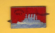 1898 Tin Tobacco Tag American Navy Spanish American War