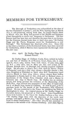 The parliamentary history of the county of Glou...