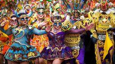 Photojournalist Fellipe Abreu and reporter Luiz Felipe Silva tell the story of the Oruro carnival in Bolivia, one of Latin America's most colourful festivities. We Are Festival, Festivals Around The World, Venetian Masks, Latin America, Bbc News, Dance Dresses, Mardi Gras, Carnival, Costumes