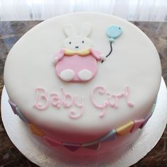 #miffy #cake #baby #shower #girl #bunny #party #pretty #ideas #victoria #sponge